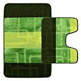Supreme Betten Original Luxus Badezimmer Teppich Matte, Extra Weich und saugstark, Polypropylen, Green Dark Green, 2 Piece Bath Mat