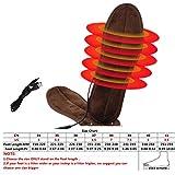 Aozzy 6V USB Electric Powered Plush pelliccia insoles inverno Uomini Donne Mantenere i piedini caldi del piede Adatto per uso interno dell'alimentazione elettrica USB (43-44)