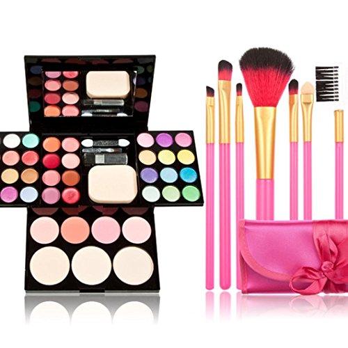 Ouneed® brosseFondation Kit de maquillage Palette de fard à paupières Lip Gloss Blush Pinceau Poudre Gift Set