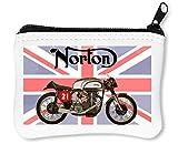 Norton Bike Portafoglio Con Cerniera Porta Monete