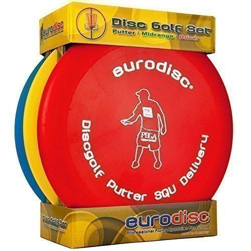 Preisvergleich Produktbild Eurodisc Disc Golf Einsteiger-Starterset SQU ROT Putter Midrange Driver PDGA approved