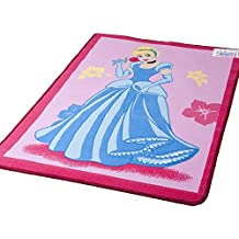 Lancashire Textiles Spielteppich mit Disney-Alphabet Rosa 95 x 133 cm