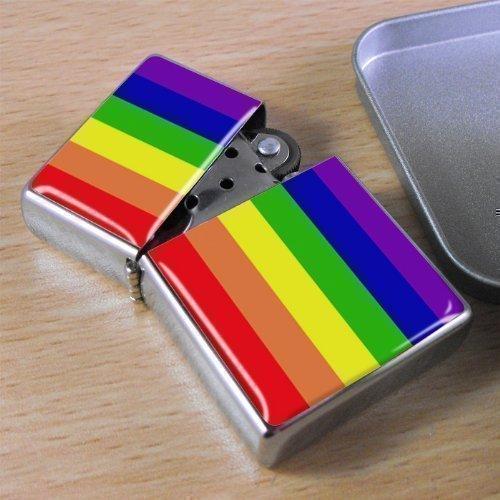 Gay Arcoiris Paz mechero con tapa Lata De Regalo
