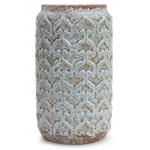 Vase MARAPI Keramikvase Dekovase Keramik Vintage Blau Hellblau Vintage  Design Dekoration Von Light And Living