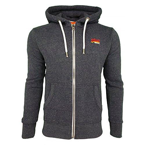 Superdry Herren Orange Label Cali Zip Hoodie, Blau, XX-Large (Bass-zip Hoodie)