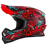 O'Neal 3Series Attack Motocross Helm Schwarz Rot MX Enduro Trail