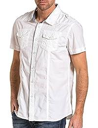 Deeluxe 74 - Chemisette homme blanche avec poches poitrine