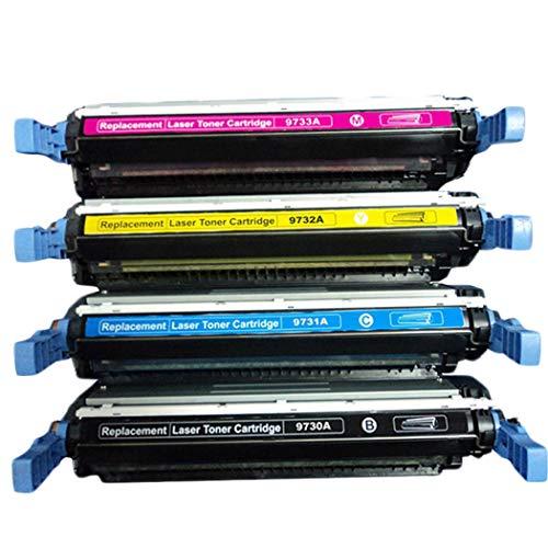 YFTMKompatibel mit HP HP645A Tonerkartusche Für HP Color Laserjet 5500 / 5500N / 5500DN / 5500DTN / 5500HDN / 5550DTN / 5550HDN Tonerkassette Canon LBP-2710/2810 C9730A,4colors -