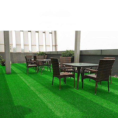 WENZHE-Artificiales sintético plástico Grass Hierba artificiales alfombra Césped Techo Alta Densidad Barato, Grueso 10 / 15mm, 2 Metros De Ancho, 8 Estilos ( Color : Green#2 , Tamaño : 2*0.5m )