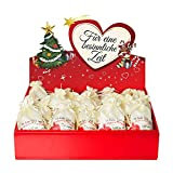 24 Adventskalender Säckchen aus Satin (10x15 cm) m. 24 Gründen Ich Liebe Dich, Weil, (für Erwachsene Männer & Frauen) m. Adventsbox Love f. Weihnachtskalender/Adventskalender zum Befüllen