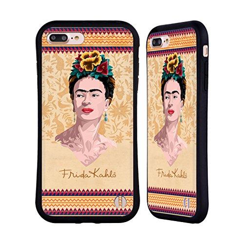 Ufficiale Frida Kahlo Rosso Ritratto Case Ibrida per Apple iPhone 7 Plus / 8 Plus Giallo