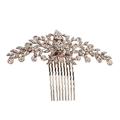 Contever® Vintage Rose Golden Simulierten Kristall Side Kämme Braut Kopfschmuck Hochzeit Zubehör