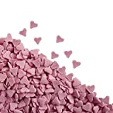 57g Sugar Pink Heart Sprinkles