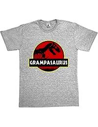 Fancy A Snuggle Grampasauras Grandad Grampa Funny Fathers Day T- Rex Old Dinosaur Mens T-Shirt