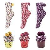 LAEMILIA Lots de 3 pcs Chaussettes Femme en Velours Corail Chaud Chaussettes Hiver Maison Cadeau Mode E 3P