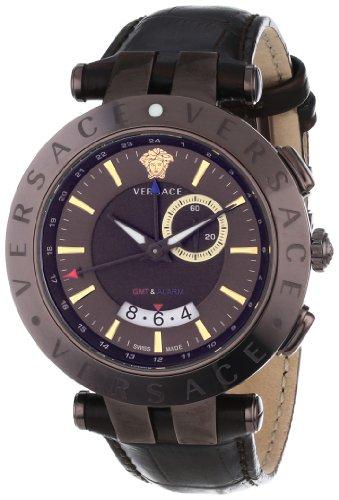 Versace 29G60D598 S497 - Orologio da polso da uomo, cinturino in pelle colore marrone