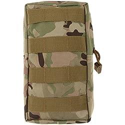 Molle Bolsa Para Uso General Táctico Modular De Accesorios De Camuflaje Militar Bolsa - CP, for 15inch Macbook