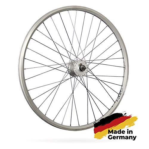 Taylor-Wheels Laufrad 28 Zoll Fahrrad Vorderrad ZAC2000 Hohlkammerfelge geöst - Shimano DH-C3000-3N Nabendynamo - Silber