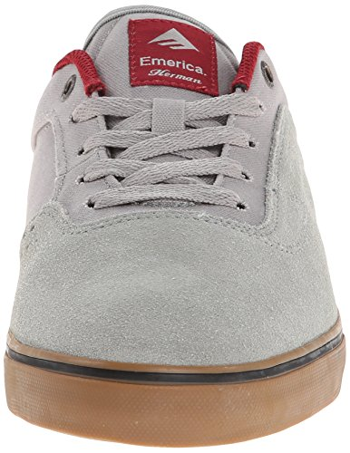 Emerica The Herman G6 Vulc, Chaussures de skateboard homme grey/gum