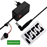 Universal Netzteil AC/DC 18W Adapter Switching Power Supply with 8 Selectable Tips & Micro USB Plug for 3V/4,5V/5V/6V/7,5V/9V/12V Household Electronics and LED Strip 1500mA Max (Upgraded -Black)