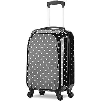 valise cabine taille 55 cm abs ultra l ger avion low cost enfant 4 roues double 44l noir. Black Bedroom Furniture Sets. Home Design Ideas