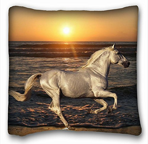 square-throw-pillow-case-animals-horse-rides-nature-sea-ocean-beach-sand-wave-water-sun-sunset-or-su