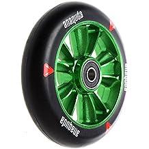 Anaquda Engine Forged Stunt Scooter Wheel 110mm + rodamientos ABEC9verde