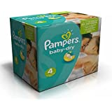 PAMPERS BABY DRY TAILLE 4 8-16kg LOT DE 124 COUCHES (2x62)