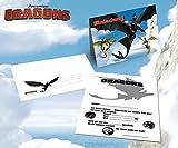 8 Einladungskarten DIN A6 inkl. Umschläge - Drachenzähmen leicht gemacht