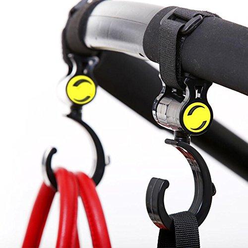 Universale Passeggino Ganci per passeggini Passeggino Mommy Hook Clip gancio Buggy carrozzina per Cambiare sacchetti della borsa Generi alimentari (2Pack-B)