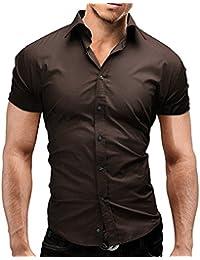 Amazon.co.uk: Brown - Shirts / Men: Clothing