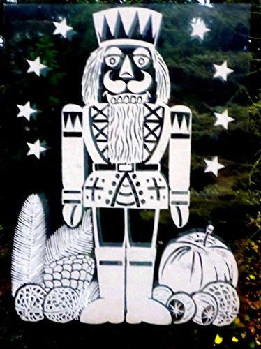 4 er Set XL RETRO KULT 33 x 24 cm groß NUSSKNACKER Nußknacker , Fensterdekoration Fensterbild, Fensteraufkleber, MADE IN GERMANY Deko Sticker, Weihnachtsdekoration, Schaufenster In- und Outdoor , Kinderzimmer, Winter Basteln Spielen Kleben, Bunte Klebebilder für das Fenster Sticker, Weihnachten Rentier Tannenbaum Geschenke Weihnachtskalender Nikolaus Engel Christmas Schneemann