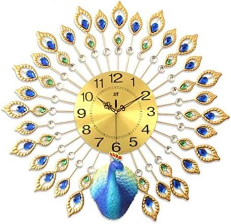 DollylaStore Horloges murales décoratives en Trois DiHommes sions Peacock 3D Creative Diamond Art Salon Horloge Murale | Moins Cher