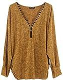 Emma & Giovanni - Damen - Langarmshirt - Pullover - Top & Shirt (M/L, Ocker)