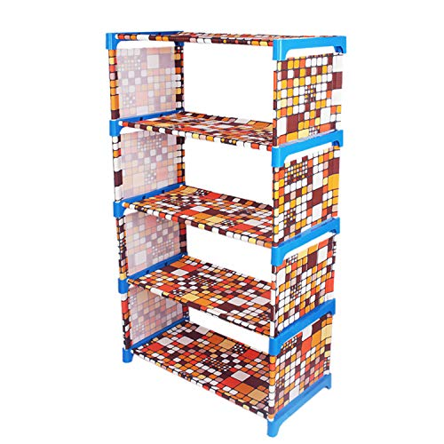 Ebee Metal Collapsible Shoe Stand  Multicolor,5 Shelves