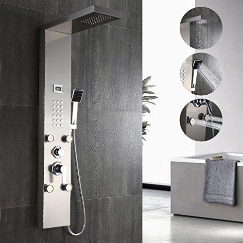 Auralum Edelstahl Duschpaneel mit Thermostat