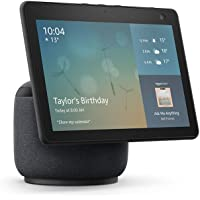 Echo Show 10 (3rd generation) | HD smart display with motion and Alexa, Charcoal Fabric