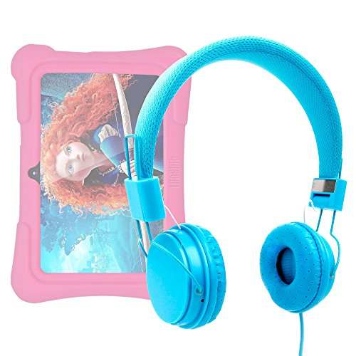 tablet dragon touch DURAGADGET Cuffie per Dragon Touch Y88X Plus 7 Pollici | Alldaymall Tablet PC Kid-Proof | Irulu Babypad | JEJA 7 - Design Blu