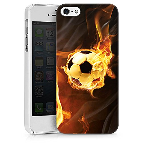 Apple iPhone X Silikon Hülle Case Schutzhülle Fußball Sport Burning Soccer Hard Case weiß