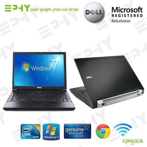 Dell E6400 Laptop (Günstige Dell Latitude E6400 Notebook 5,06 gHz Core 2 Duo 4 GB 160 GB DVD/RW mit Windows 7 Professional WI-FI **Bürostuhl** für Schule, Zuhause, Büro, Uni (schwarz) ULTRA FAST kraftvoll)