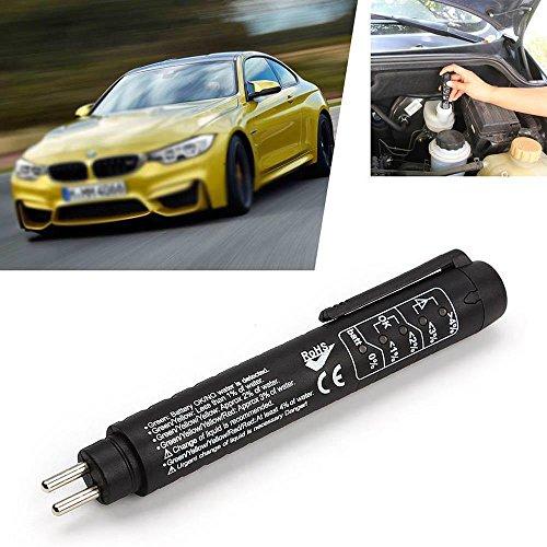Bremsflüssigkeit Tester mit LED-Licht DOT 3/4 Prüfanzeigestift Automotive Brake Test Tool Auto Bremse Tester (Powered by 1 * AAA-Batterie, nicht im Lieferumfang enthalten)
