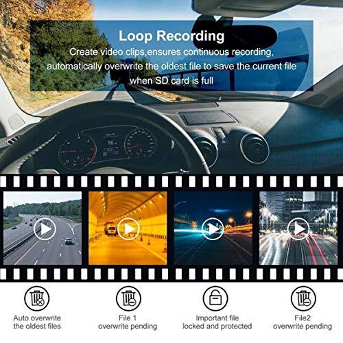 Altsommer Autokamera 1080P HD Kamera,WiFi mit 170° Weitwinkelobjektiv,Notfallaufzeichnungsfunktion, Auto Kamera mit Rückwärts/Einparkhilfe, Bewegungserkennung,G-Sensor (A)