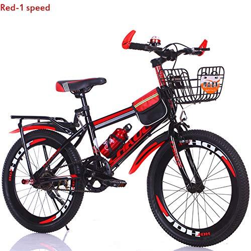 Bike 18/20 Zoll Mountainbikes 7 Geschwindigkeit Kinderfahrräder für Jungen und Mädchen,Red,18in -