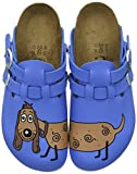 Birkenstock Professional Kay, Zoccoli Donna, Blu (Blau (Dog Blue Background)), 36 EU
