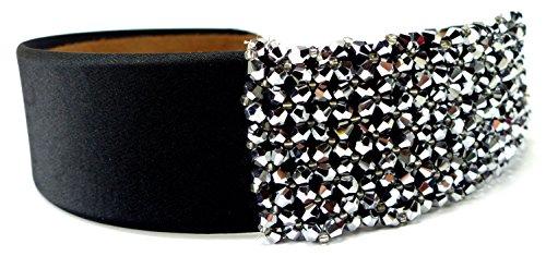 Spangen Designer (edler Designer Haarreif Haarklammer Haar Reif mit Strass besetzt viele Modelle Ux44-2)