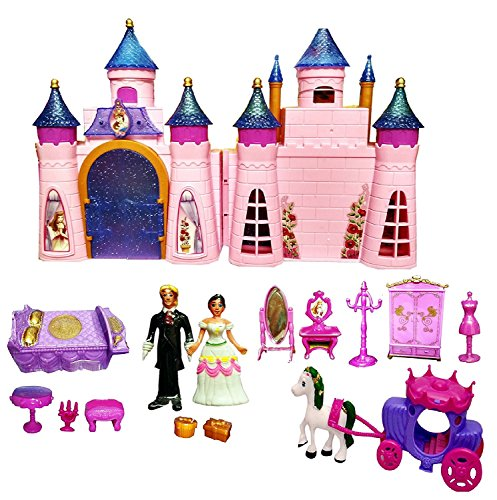 PRiQ Castle Doll House with Accessories - Musical Dollhouse