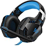 Versiontech Auriculares Estéreo de Juegos Gaming Headset Cómodo con Microfono Luces LED Control de Volumen para Mac y PC (incompatible con PS3 PS4 Xbox one Xbox 360)