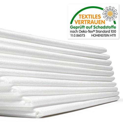 Waschfaserlaken ACTIV (300x waschbar) 10 St.+2 Laken GRATIS (80×210 cm, weiß) Waschvlies / Vlieslaken – OEKO-TEX® geprüft – ORIGINAL Dr. Güstel - 3