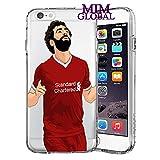 MIM Global Football Soccer Etuis Coque Case Cover Compatible pour Tous iPhone (iPhone 5/5s/SE, Salah)