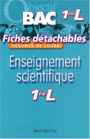 Enseignement scientifique 1e L par Patrice Delguel